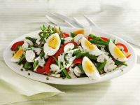 Colourful Mixed Salad with Hard-boiled Egg recipe