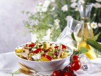 Colourful Penne Bowl recipe