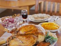Complete Stuffed Turkey Dinner with Gravy and Sides recipe