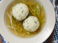 Consommé with Julienned Vegetables and Dumplings recipe