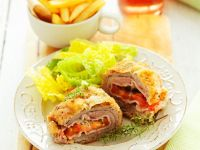 Cordon Bleu with Side Salad recipe
