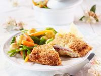 Cordon Bleu with Spring Vegetables recipe