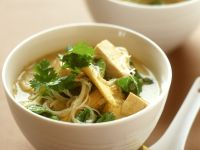 Corn and Tofu Soup Bowls recipe