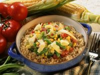 Corn, Beans and Tomatoes recipe