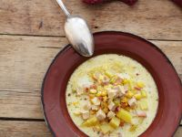 Chicken Chowder with Corn and Bacon recipe