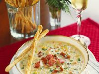 Corn Chowder with Lobster and Bacon recipe