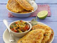 Corn Pancakes with Salsa recipe