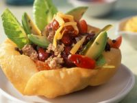 Corn Pockets with Beef Salad recipe