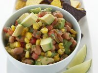 Corn Salsa with Beans and Avocado recipe