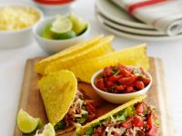Corn Tacos with Beef Filling recipe