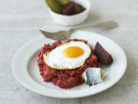 Corned Beef and Vegetable Hash with Eggs (Labskaus) recipe