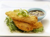 Cornflakes Crusted Chicken Cutlets with Soy Sauce recipe