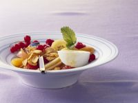 Cornflakes with Yogurt and Fruit Salad recipe