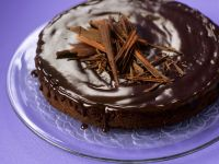 Cornmeal Gateau with Chocolate Glaze recipe