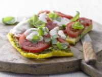 Cornmeal Pizza with Tomatoes recipe