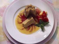 Cornmeal Pudding with Fruit Sauce recipe