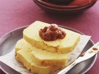 Cornmeal Slices with Chutney recipe