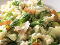 Courgette and Ham Risotto recipe