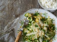 Courgette Ribbons Salad with Cheese recipe