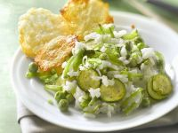 Courgette Rice with Cheese Crisps recipe