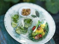 Couscous and Mint Salad and Tea recipe