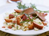 Couscous Salad with Strawberries and Venison