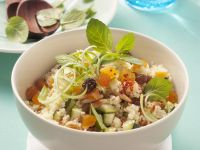 Couscous Salad with Zucchini, Apricots and Pine Nuts recipe