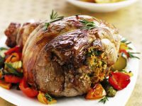 Stuffed and Roast Lamb Joint recipe