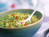 Couscous with Bell Peppers and Onion recipe