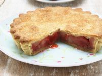 Covered Rhubarb Pie recipe
