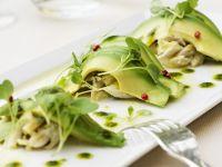 Crab and Sliced Avocado Salad recipe