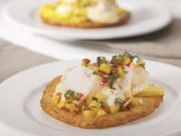 Crab Pancakes with Soft Cheese recipe
