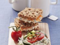 Cracker and Crispbread Soft Cheese Snacks recipe