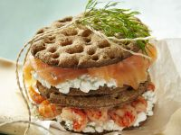 Smoked Fish and Soft Cheese Stacks recipe