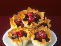 Cranberry and Mincemeat Filo Tarts recipe