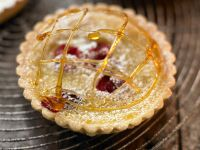 Cranberry-orange Tart with Caramel Garnish recipe