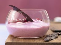 Cranberry Yogurt Foam