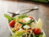 Crawfish Salad with Asparagus, Egg and Avocado recipe