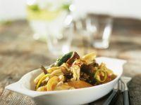Crawfish with Mushrooms and Dill Cream recipe