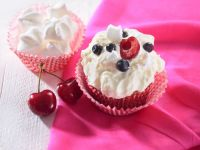 Cream Cakes with Fruit Topping recipe