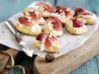 Cream Cheese and Smoked Italian Ham Canapés recipe