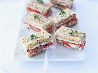 Cream Cheese and Tomato Sandwiches recipe