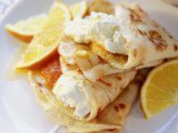 Cream Cheese Crepes with Oranges recipe