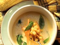 Cream Cheese Soup with Corn and Carrots recipe
