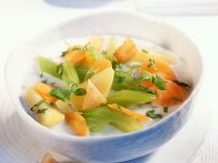 Cream of Celery Soup with Croutons recipe