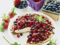 Cream Pie with Berry Topping recipe