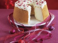 Cream Topped Angel Cake recipe