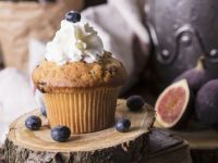 Cream-topped Blueberry Muffins recipe