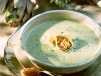 Creamy Artichoke Heart Bisque recipe