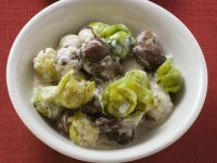 Creamy Brussels Sprouts and Chestnuts recipe